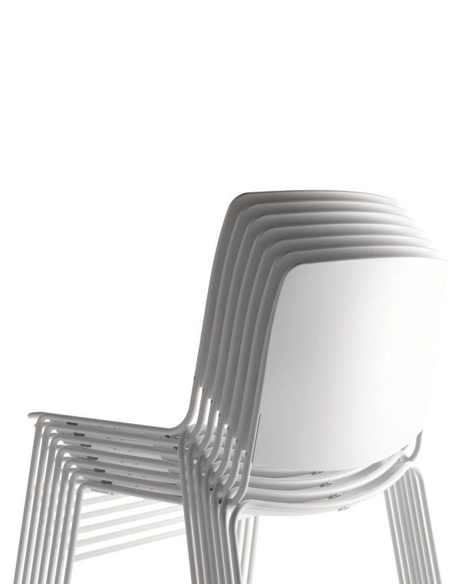 Silla Mass Apilable Blanco Puro