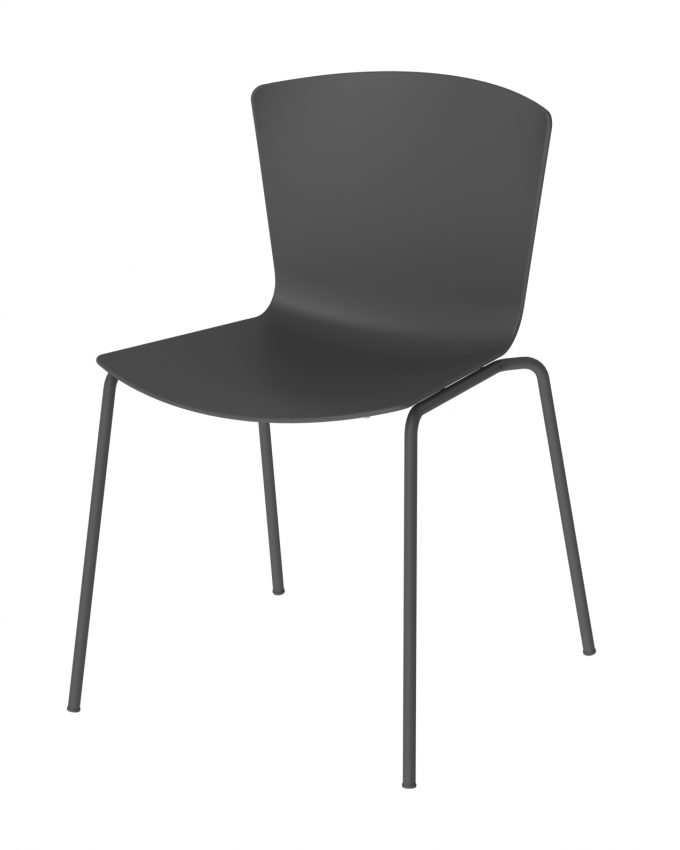 Silla Slam polipropileno negro-taco-negro polipropileno negro 100% reciclado